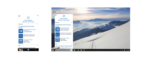Win10 windows cortana Web